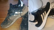 'Insane' hack uses $5 Woolies product to save grimy $200 shoes