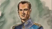 Liam Payne pinta un retrato del duque de Edimburgo como homenaje