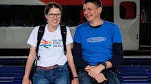 Meet Geoff and Vicki: The 'gorpcore' couple visiting every train station in Britain