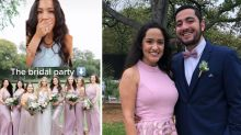 Wedding guest mortified after wearing a dress identical to bridesmaids