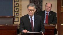 Al Franken rips Trump in farewell speech to Senate