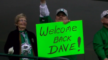 Stars welcome Dave Strader back from cancer fight with OT win (Video)
