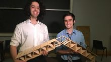 They crushed it! UNB students win popsicle-stick bridge contest