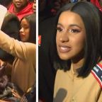 Cardi B Gives Out Coats and Sneakers at New York Housing Complex