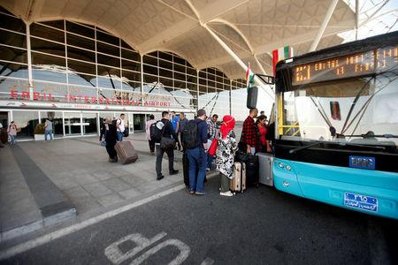 Passengers are seen at the Erbil International Airport in Erbil, Iraq September 29, 2017. REUTERS/Azad Lashkari