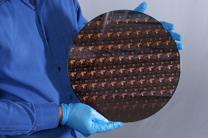 A 2 nm wafer fabricated at IBM Research's Albany facility