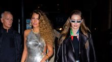 Blake Lively Channeled Paris Hilton While Reuniting With Gigi Hadid at Versace's Pre-Fall Show