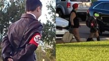 Teacher's son wears a Hitler costume to a community Halloween event: 'He needed a last-minute costume'