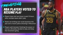 NBA players voted to resume play