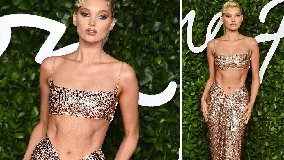 Model's ab gown turns heads on red carpet
