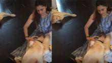Sushant's ex girlfriend Ankita Lokhande plays with her Scotch & Hatchi; Watch Video