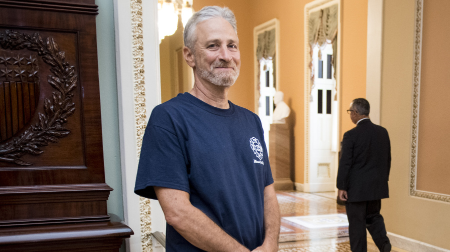 Jon Stewart celebrates passage of 9/11 bill