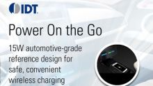 IDT Leads the Charge in the Automotive Market with Industry First In-vehicle Wireless Charging Customer Reference Board