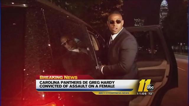 Carolina Panthers' Greg Hardy guilty on 2 counts of domestic violence