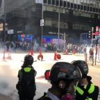 Hong Kong's Central Business District Fills With Tear Gas Fired by Riot Police