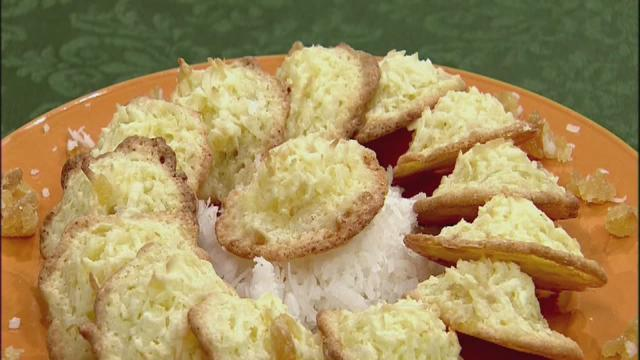 Coconut ginger macaroons