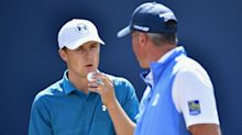 Spieth caught inside four holes after shocking start to final round