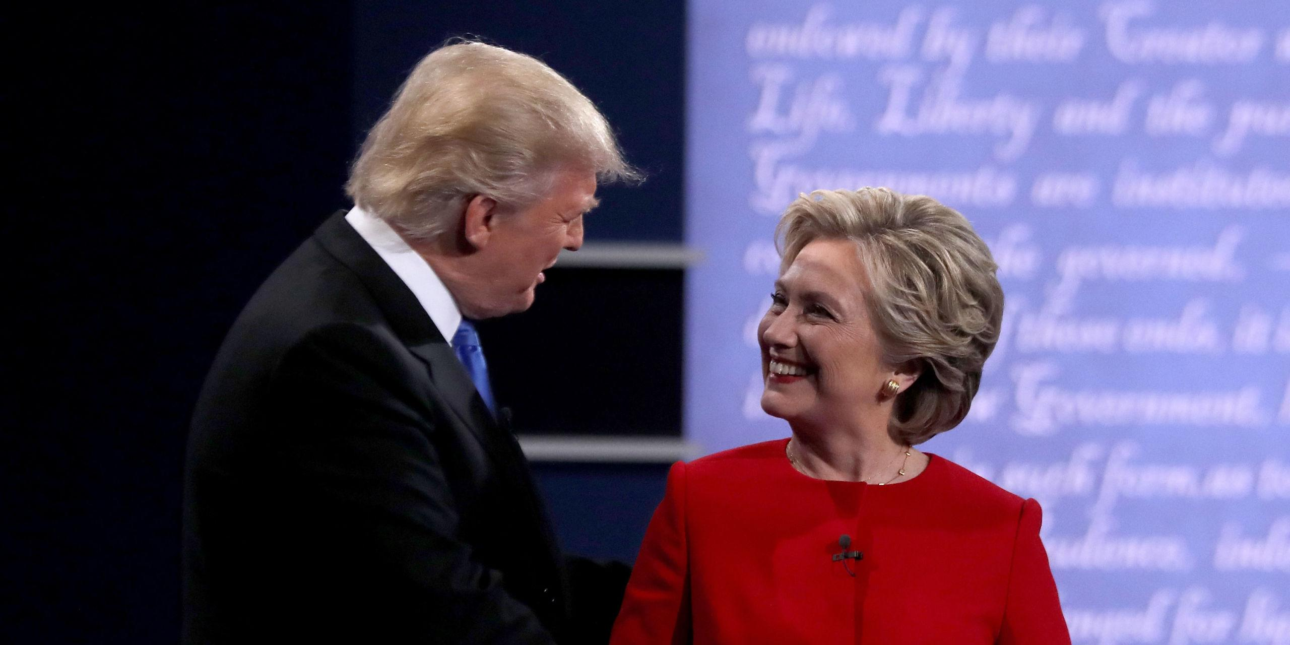 a report on the presidential debate between donald trump and hillary clinton A restaging of the presidential what if donald trump and hillary clinton after watching the second televised debate between donald trump and hillary.