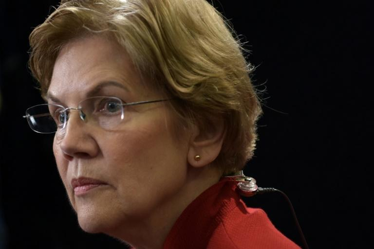 """Democratic Senator Elizabeth Warren, one of the top Democrats hoping to challenge Trump for the presidency, said he is """"threatening to commit war crimes"""" (AFP Photo/Agustin PAULLIER)"""