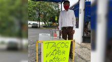 Don Pepe, el abuelito emprendedor que ya no pudo seguir de taxista y abrió un negocio de tacos