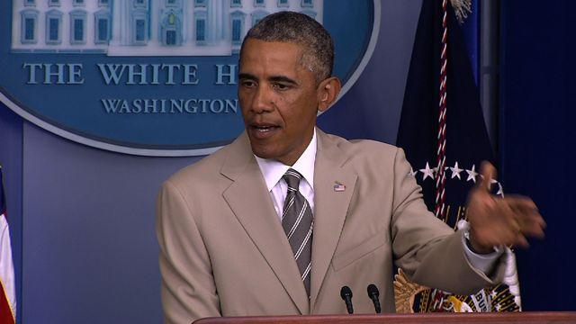 """Obama on ISIS: """"We don't have a strategy yet"""""""