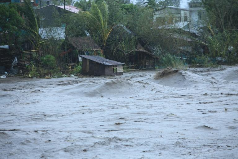 Ferocious winds and torrential rain toppled power lines, triggered flooding and sparked landslides