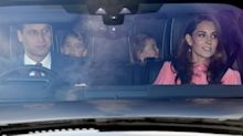 Kate, Meghan and the rest of the royals arrive for the Queen's Christmas lunch