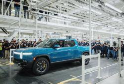 Rivian starts building R1T electric trucks for customers