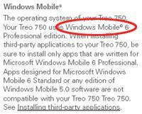Palm finally posts Windows Mobile 6 for AT&T's Treo 750