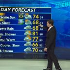 AccuWeather: AM rain, some sun