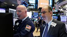 Stocks snap 8-day winning streak