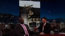 Shaq Surprised With Laker Statue on 'Kimmel'