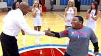 Detroit Pistons' Usher Shannon Sails Challenges Young Groover to Dance-Off