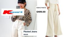 $25 Kmart pants a 'beautiful' alternative to $499 designer pair