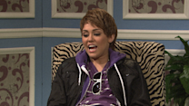 Vanessa Bayer: Playing Miley in front of Miley (as Justin)