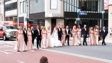 Verhalten einer Hochzeitsgesellschaft New York sorgt für Empörung