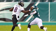 Lamar Jackson ties another Michael Vick record while leading Ravens past Eagles
