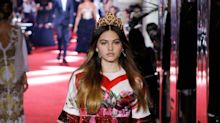 'World's most beautiful child' joins Dolce & Gabbana's star-studded fashion show