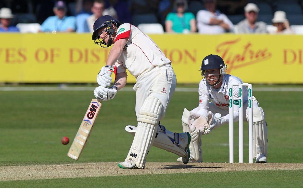 Alex Davies scored an unbeaten 140 - Rex Features