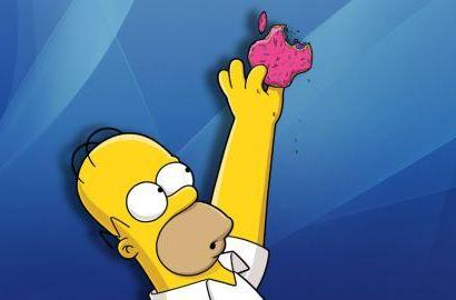 Homer Simpson comes to the Tom Tom app