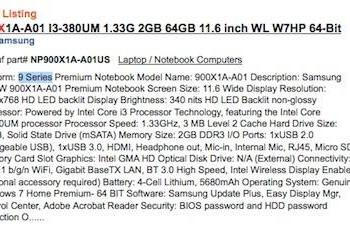 Samsung 9 Series laptops to include 11.6-inch model? (Update: confirmed!)