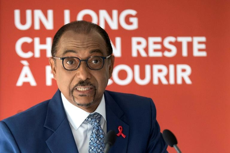 Michel Sidibe stepped down as head of UNAIDS in May, 2019 accused of mismanagement (AFP Photo/Thomas SAMSON)