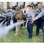 North Carolina Deputies Pepper-Spray Demonstrators Marching To Polls