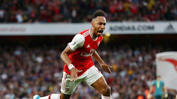 Arsenal 3-2 Aston Villa: Aubameyang strikes late for 10-man Gunners