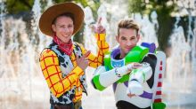 Grooms dress as Woody and Buzz Lightyear for their magical, Disney-themed wedding
