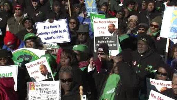 Unions use MLK weekend to rally in Philadelphia