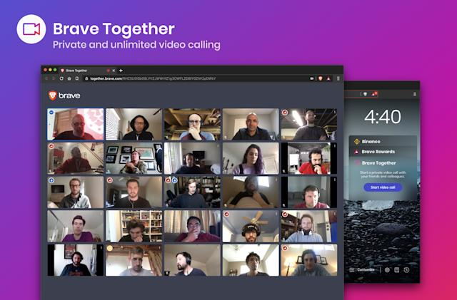 Brave's browser now includes a privacy-focused video calling app