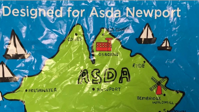 Asda's Isle of Wight specialty bags have a huge error