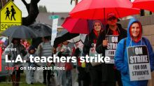PHOTOS: Los Angeles teachers strike continues into 3rd day