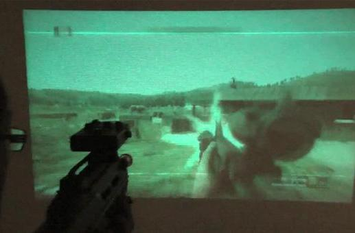 Microvision's PicoP laser projector meets rifle-shaped motion controller, mayhem ensues